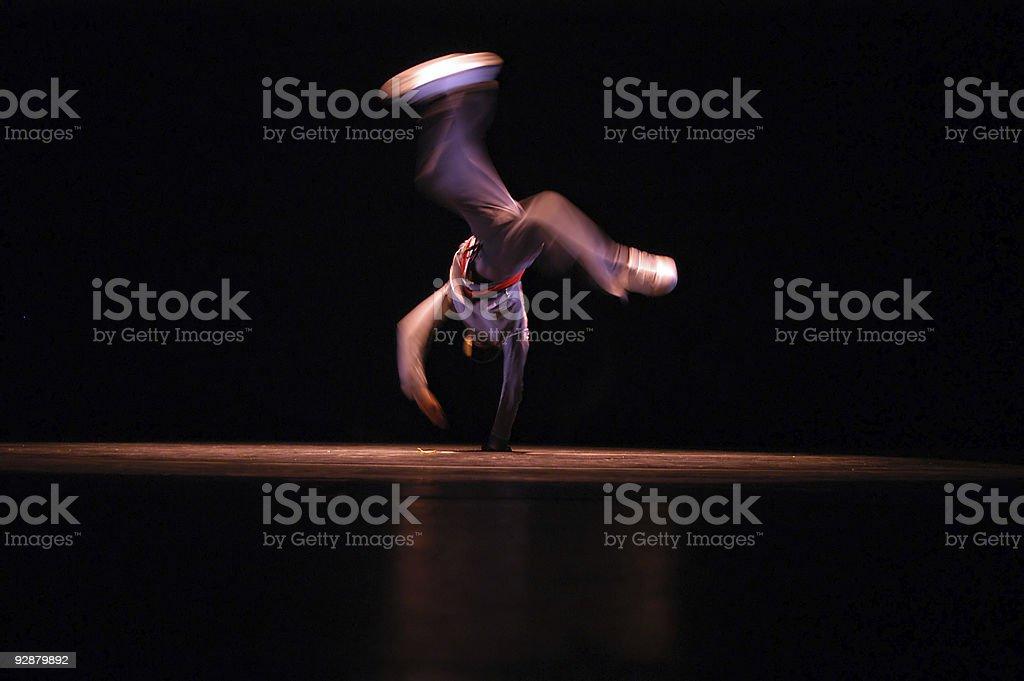 Hip Hop Dancer - B Boy royalty-free stock photo