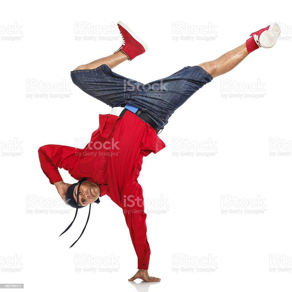 Hip Hop Dancer Doing One Hand Stand Stock Photo & More Pictures of ...