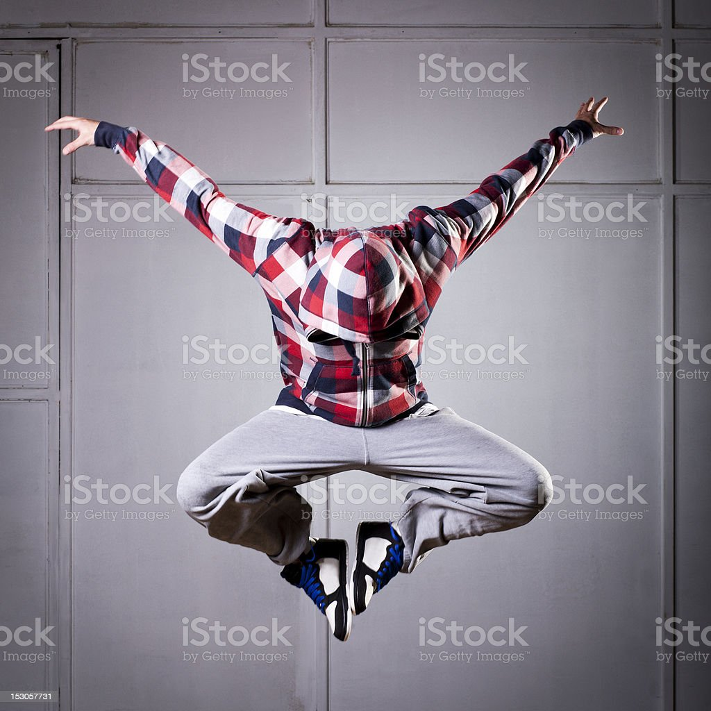 Hip Hop dancer in the air royalty-free stock photo