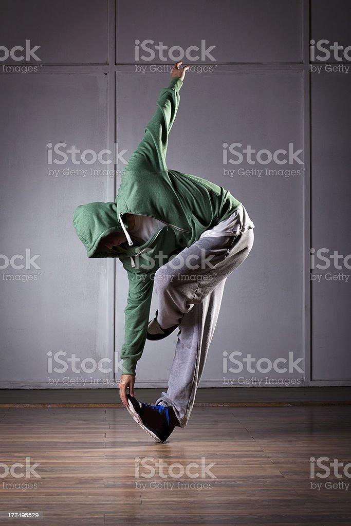 Urban hip hop dancer making dance move