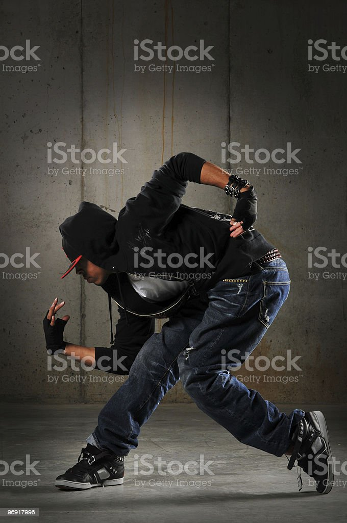 Hip hop dancer performing royalty-free stock photo