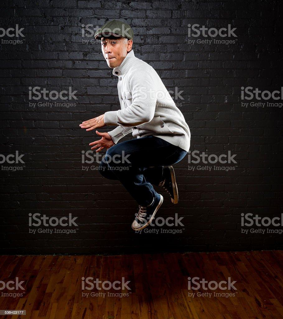 Hip Hop Jump stock photo