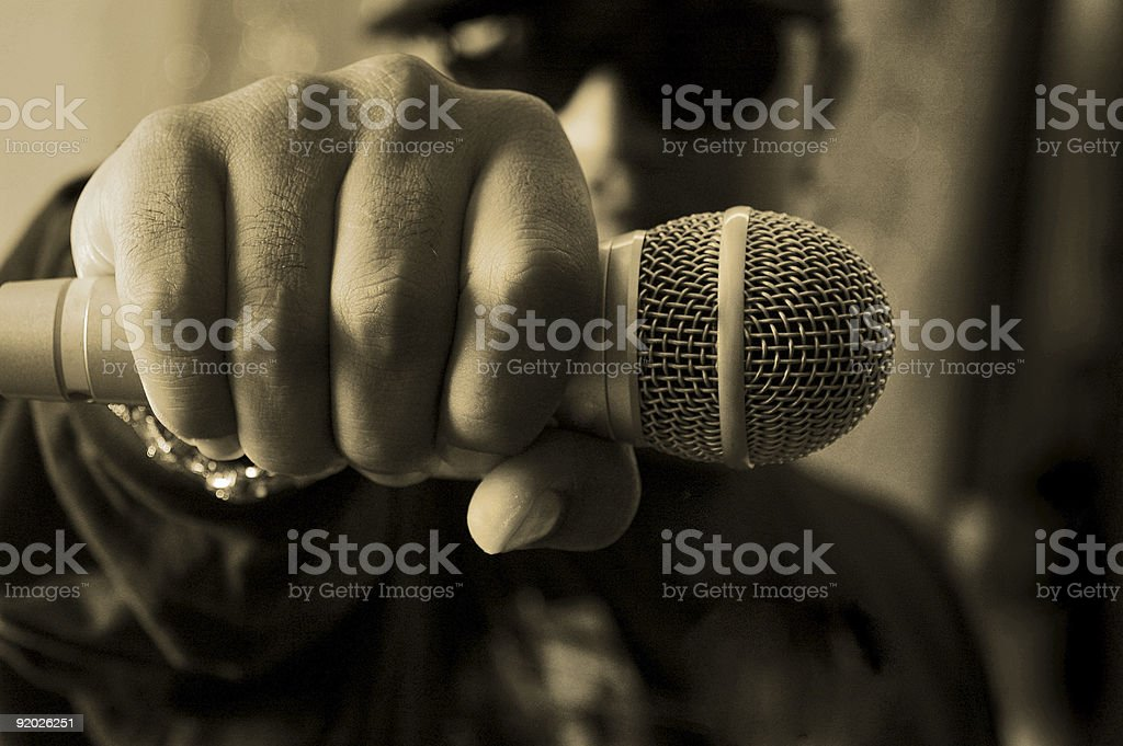 hip hop musician stock photo