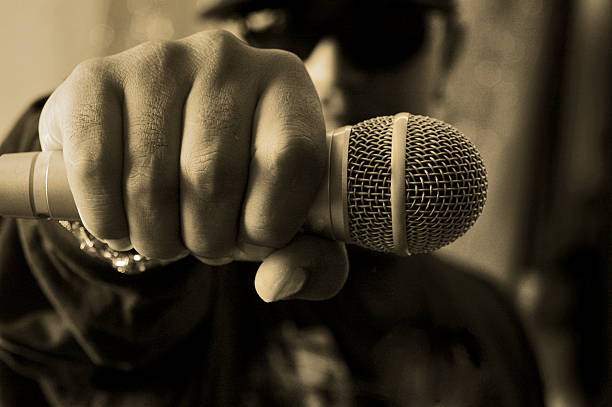 hip hop musician stock photo