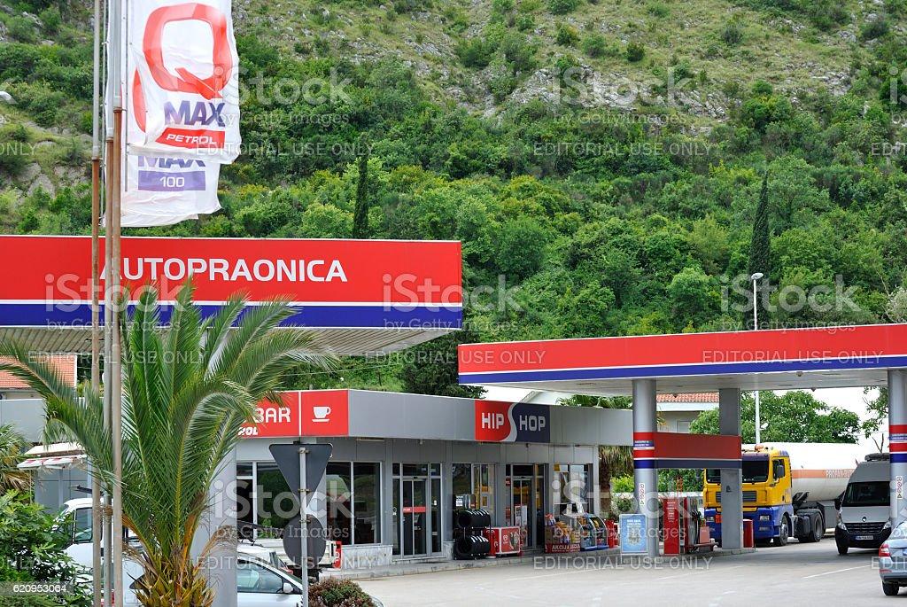 Hip Hop Petrol gas station stock photo