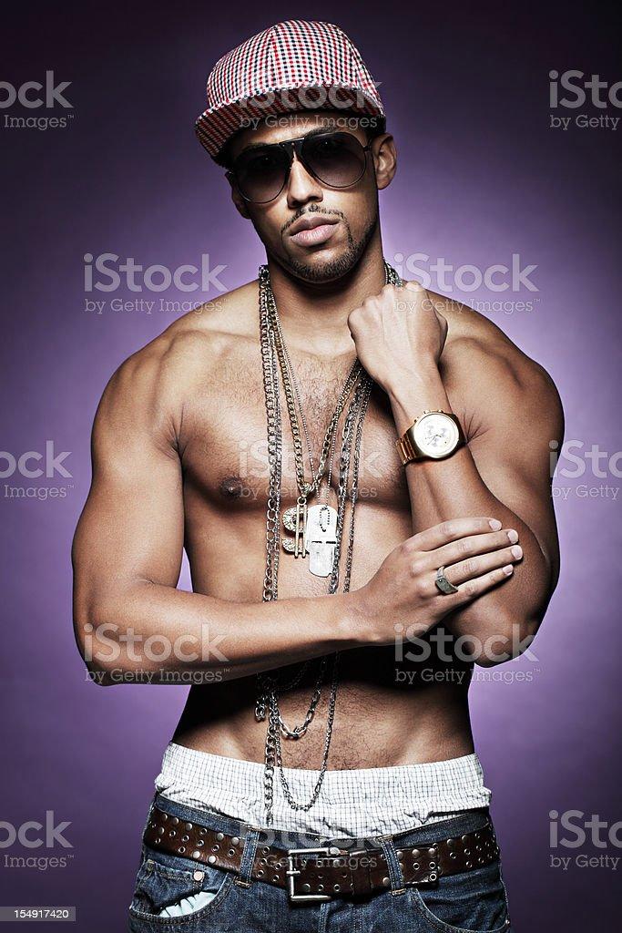 Hip Hop Rapper stock photo