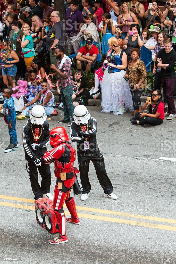 Hip Hop Storm Troopers Pose At Atlanta Dragon Con Parade stock photo