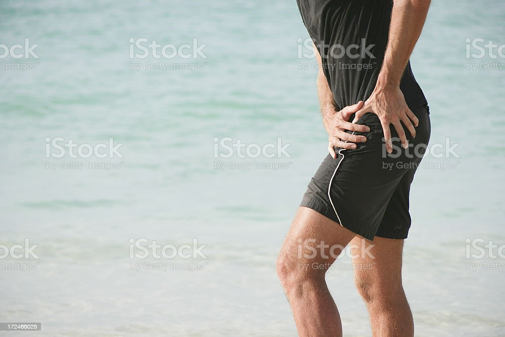 Hip pain stock photo