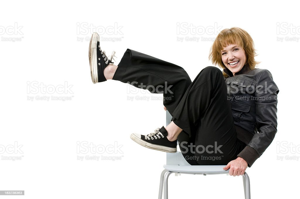 Hip Woman With Great Smile royalty-free stock photo