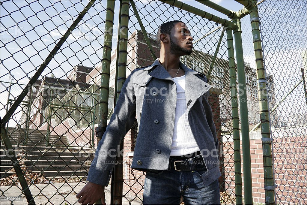 Hip Young Man Outside royalty-free stock photo