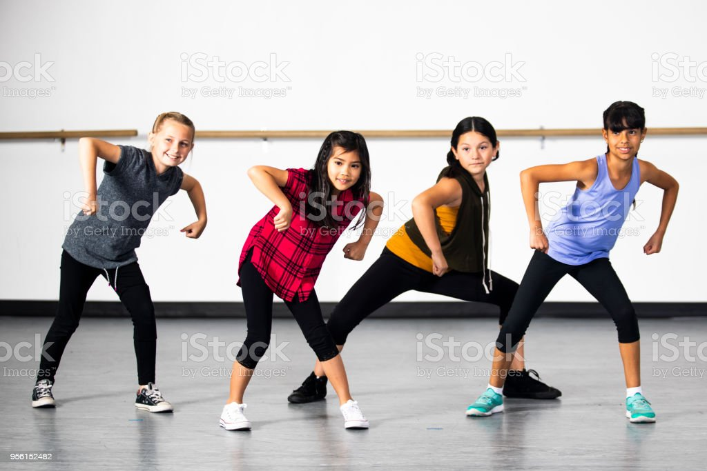 Hiphop Dance Group Of Young Diverse Girls Stock Photo Download Image Now Istock