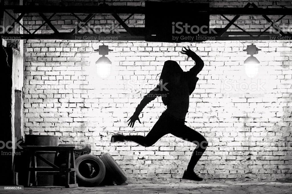 Hip-hop Dance Jump stock photo