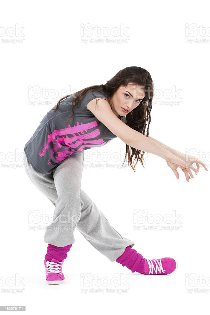 Hip-hop dancer girl royalty-free stock photo