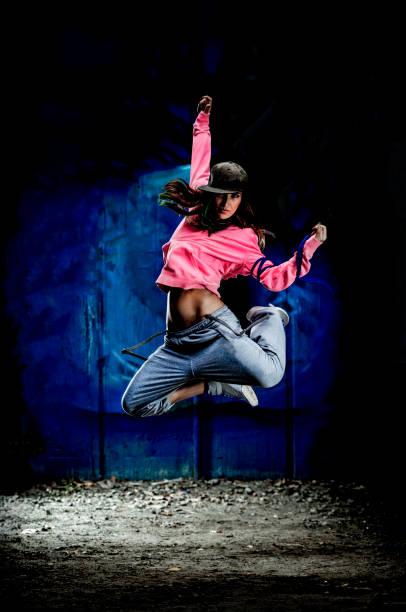 Hip-hop dancer stock photo