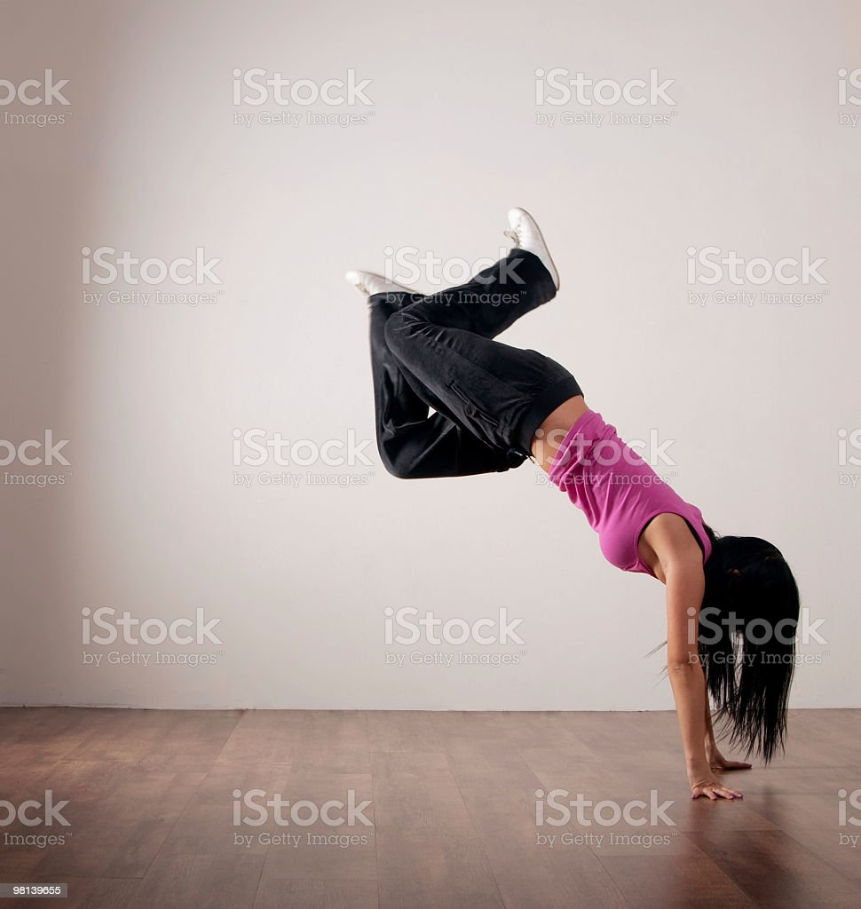Hip-hop dancer royalty-free stock photo