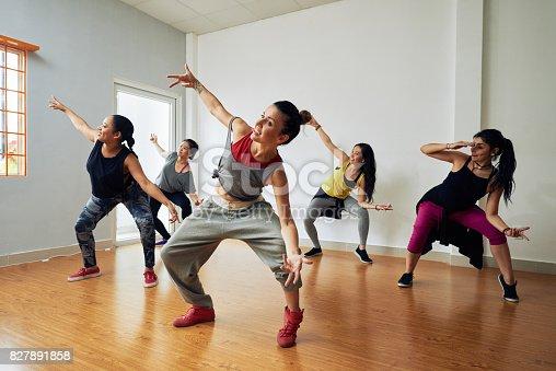 istock Hip-Hop Dancers Having Training 827891858