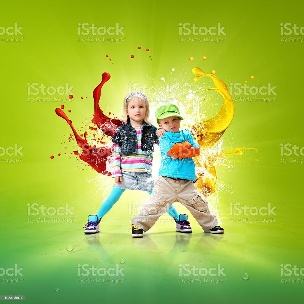 Hip-hop-kleine dancers – Foto