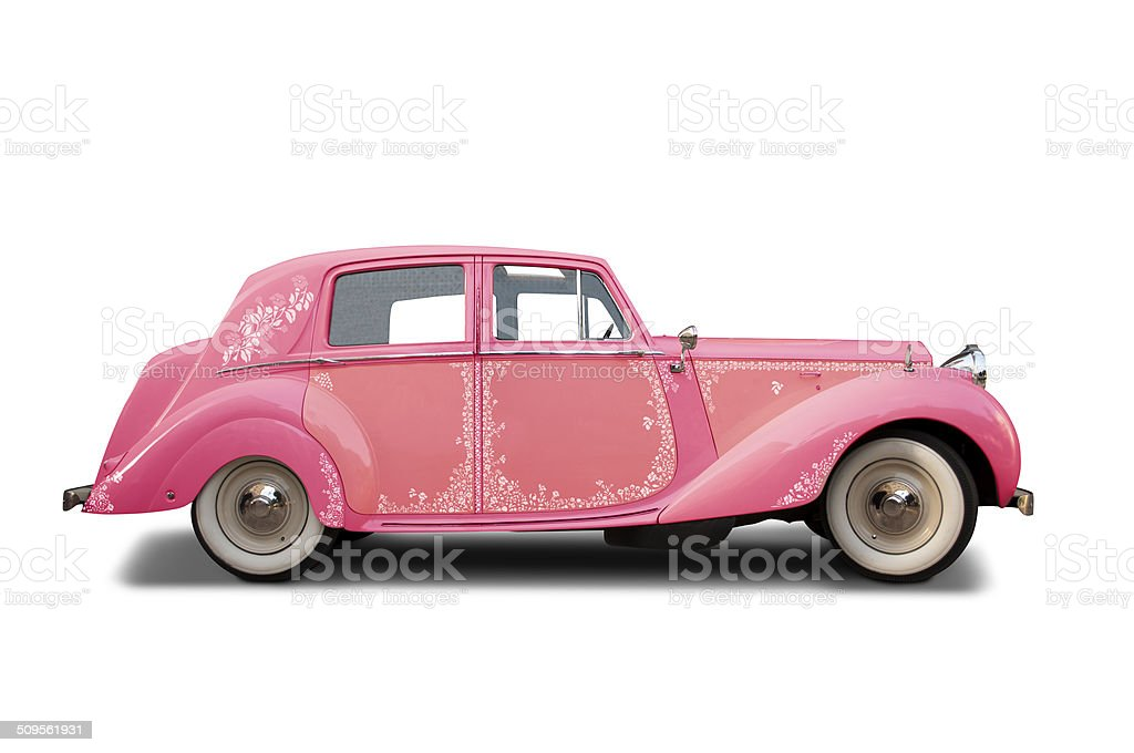 Hippie classic car royalty-free stock photo