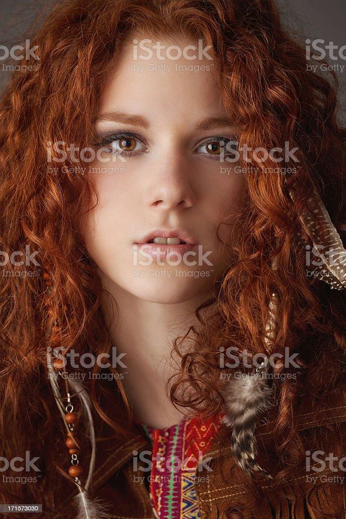 hippie-Mädchen portrait – Foto
