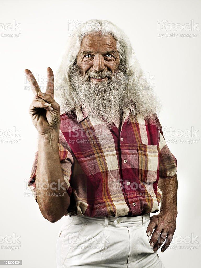 Hippie grand-père - Photo
