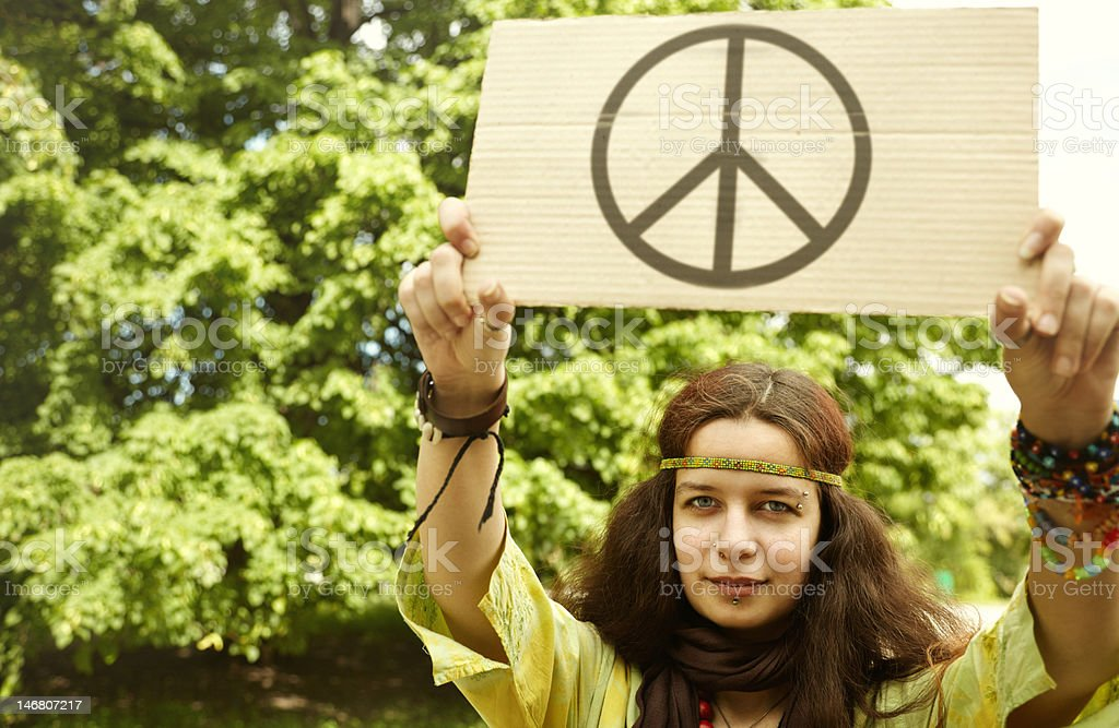 Hippie royalty-free stock photo