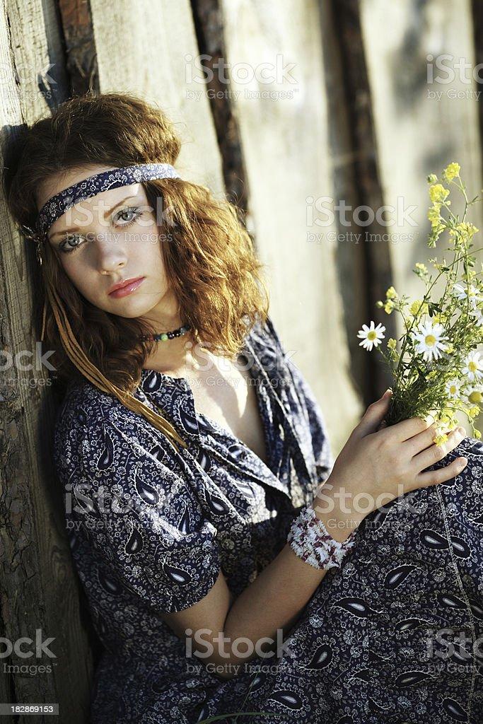 hippie royalty-free stock photo