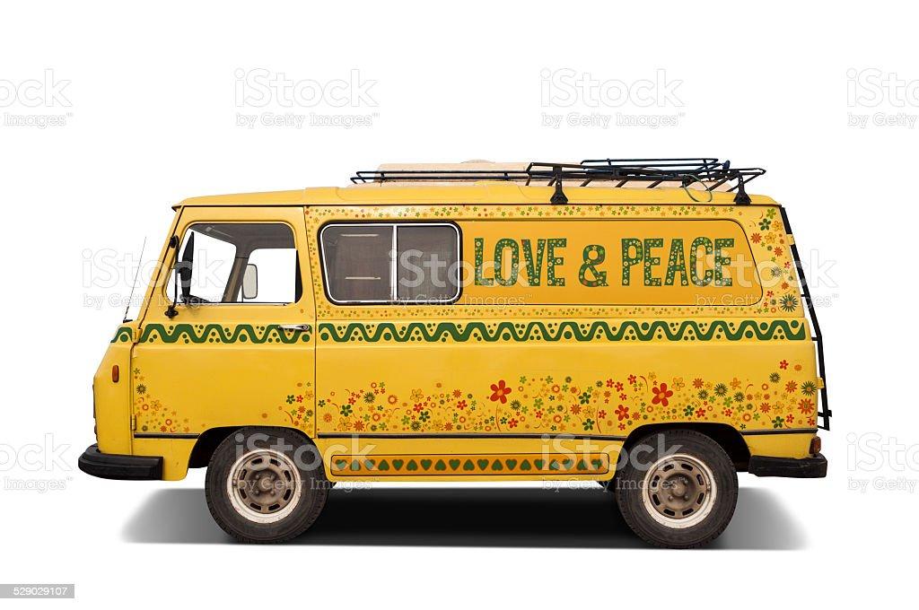Hippie van stock photo