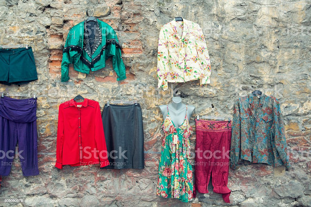 Hippies clothes stock photo