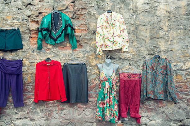 Hippies clothes stock photo
