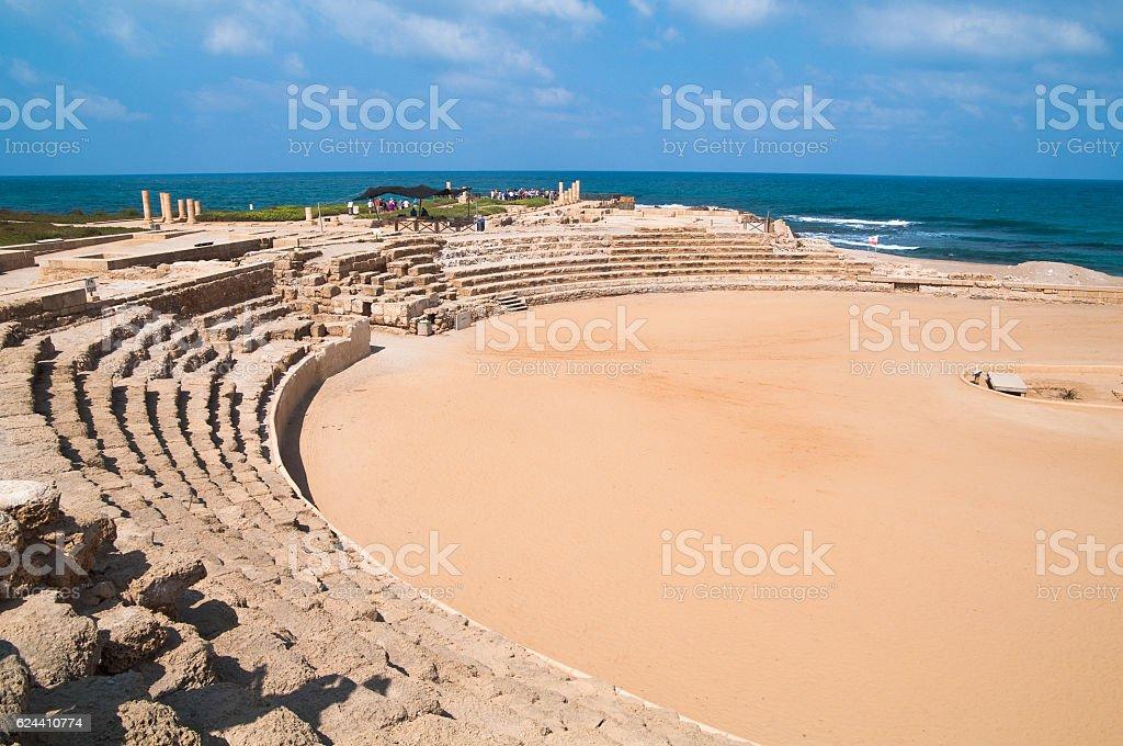 Hippodrome at Caesarea stock photo