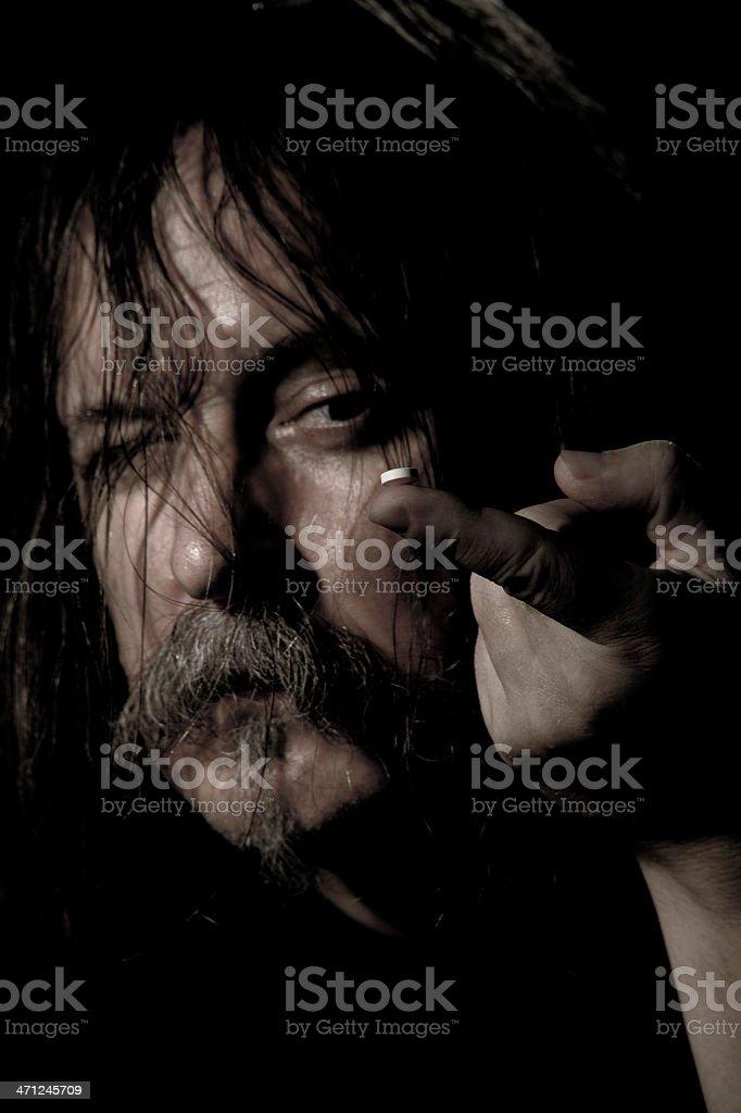 Hippy Drug Addict royalty-free stock photo