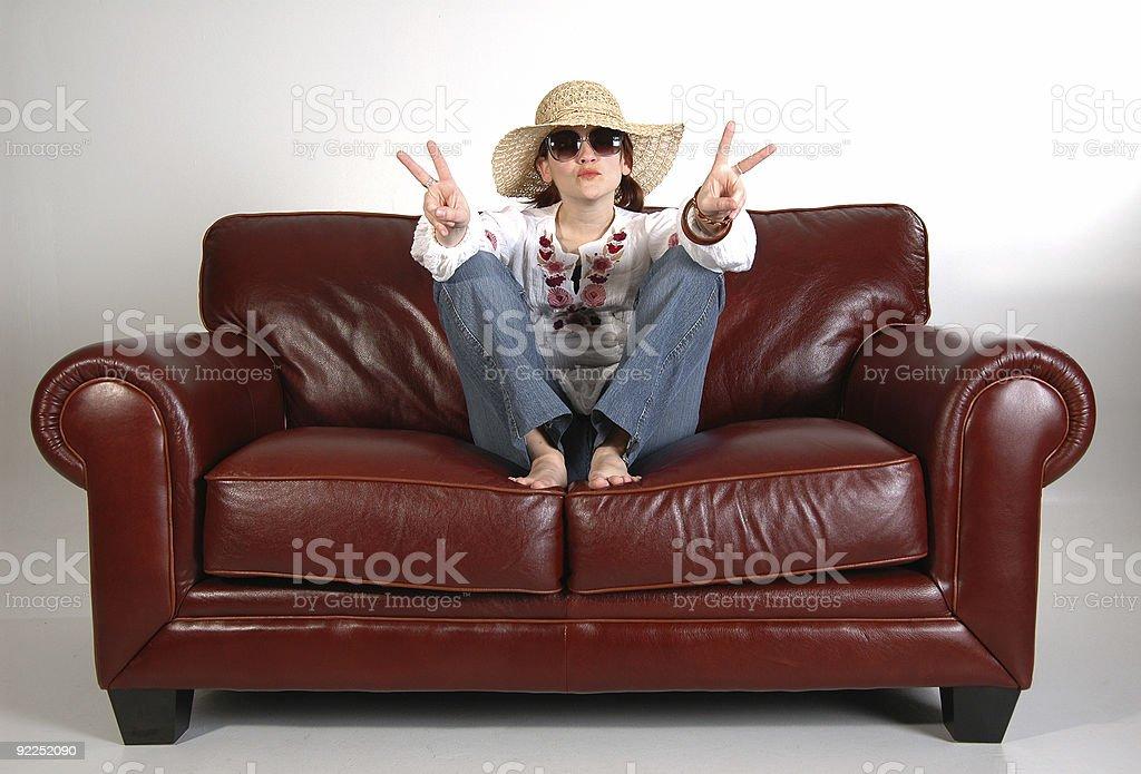 Hippy girl 5 royalty-free stock photo
