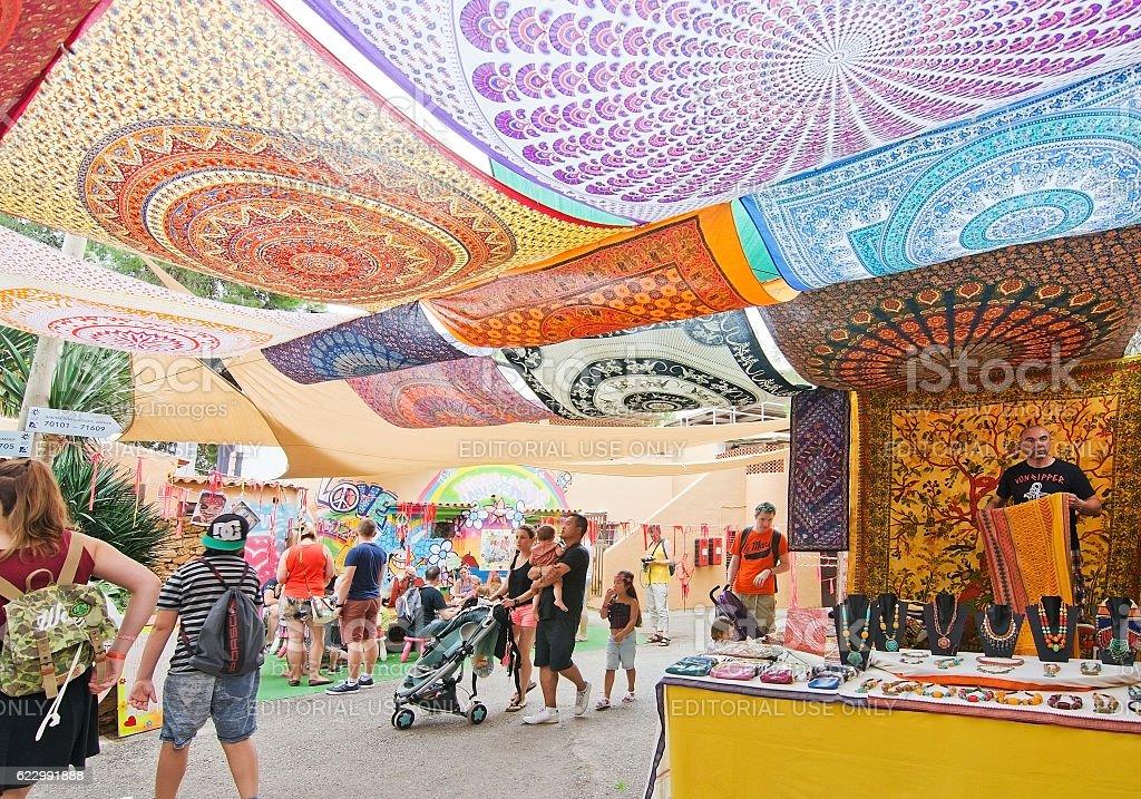 Hippy Market Es Canar Ibiza stock photo