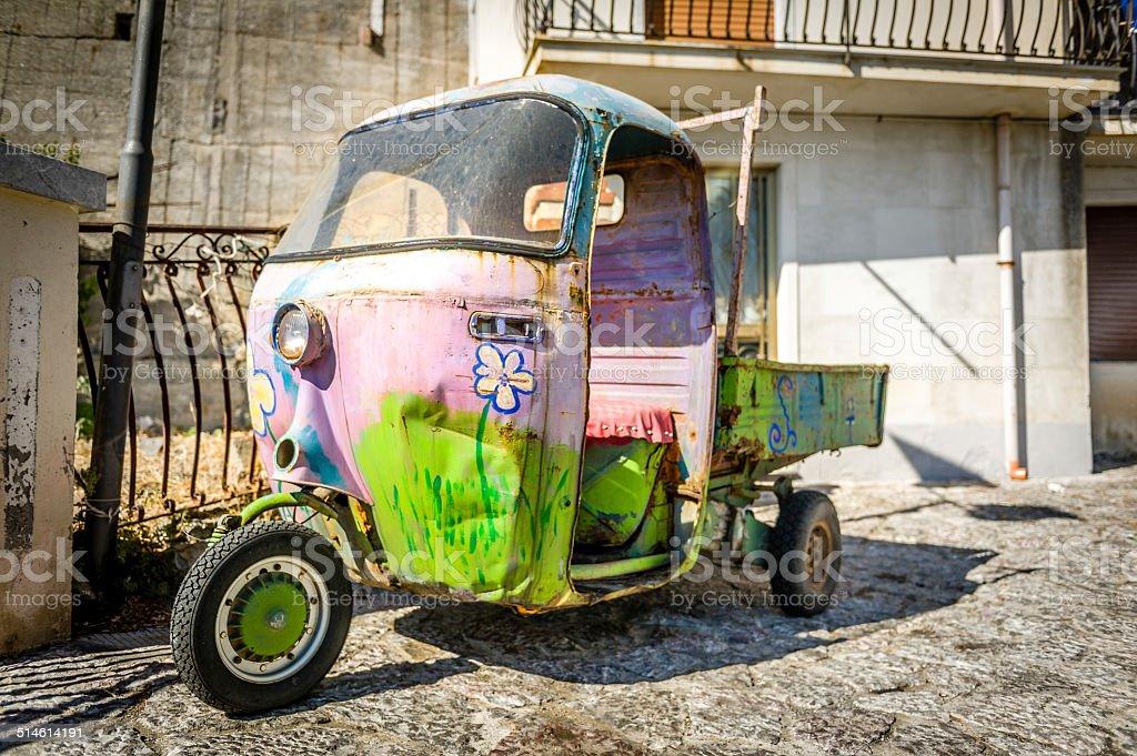 Hippy di 3 ruote auto retrò - foto stock