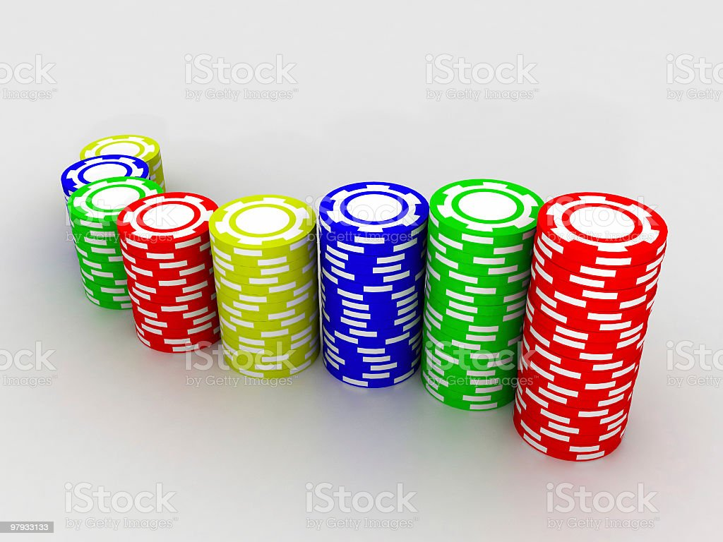 Сhips a casino royalty-free stock photo