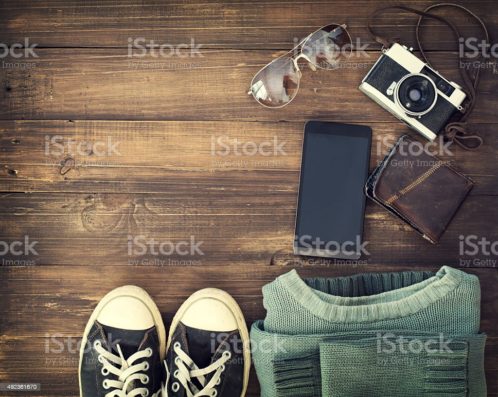 hipster accessory stock photo