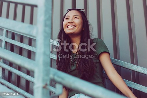 istock Hipster Asian Teen Girl Southern California 824792414