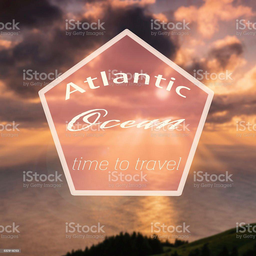 hipster atlantic ocean stock photo