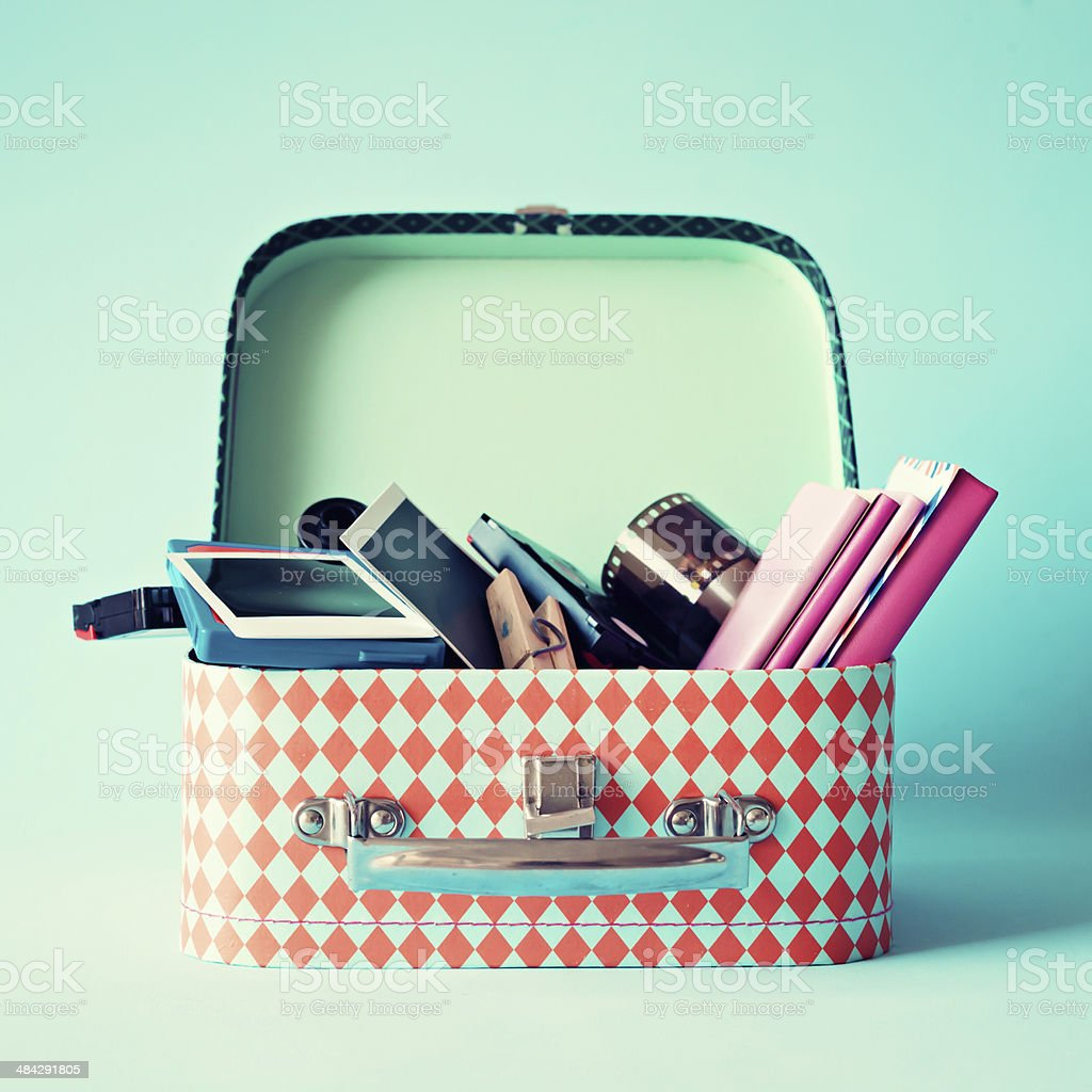 Hipster Box stock photo