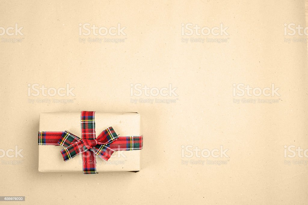 Hipster christmas gift stock photo