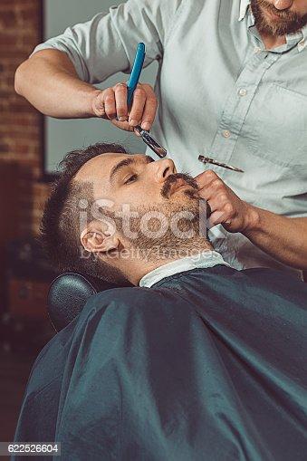 622527180istockphoto Hipster client visiting barber shop 622526604