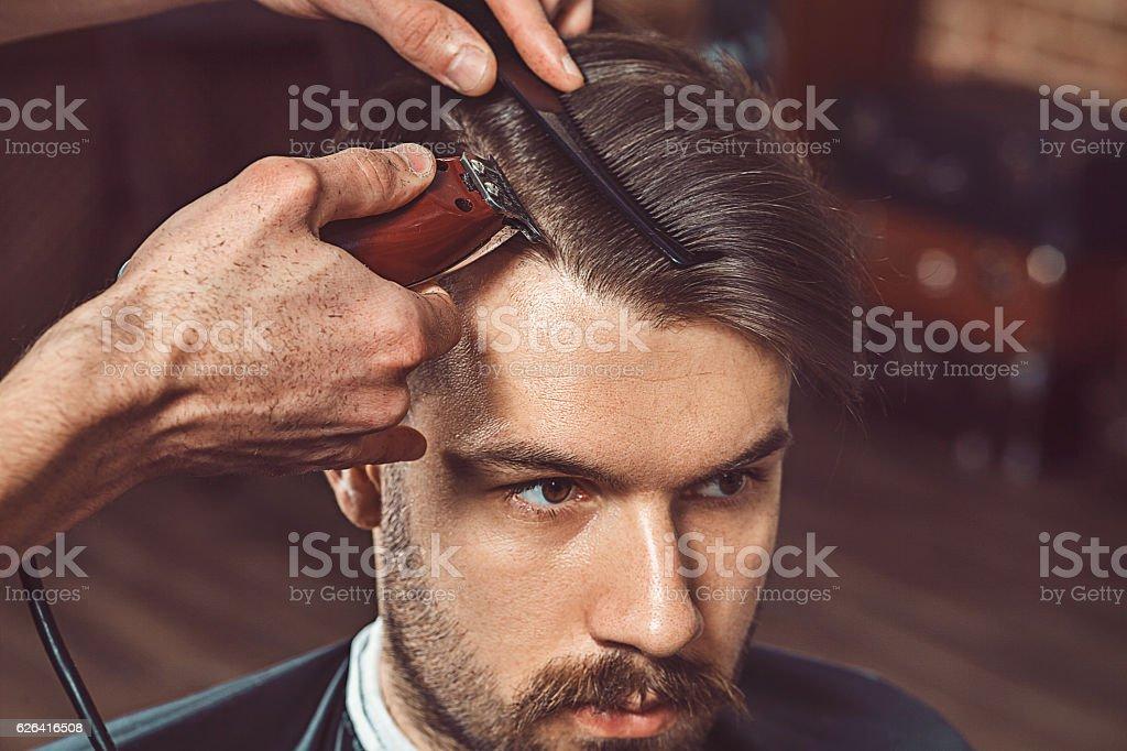 Hipster Kunden Besuch von Friseur – Foto