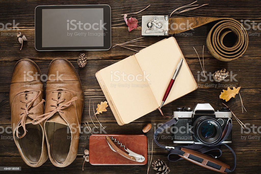 Hipster collection in autumn mood stock photo
