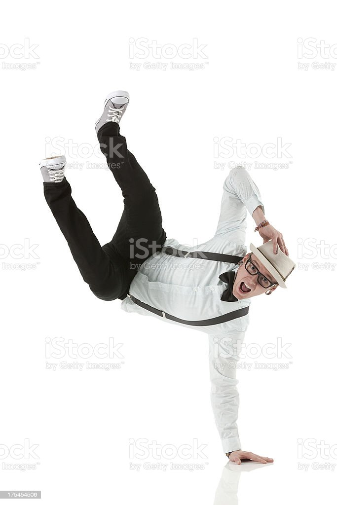 Hipster dancing royalty-free stock photo
