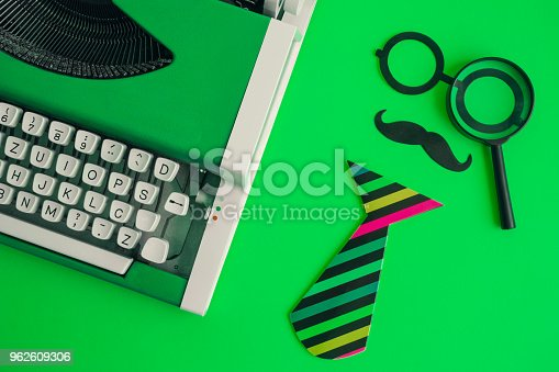 istock Hipster detective explorer creative abstract concept. 962609306