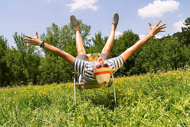 hipster mann in der natur. - horizontal gestreiften vorhängen stock-fotos und bilder