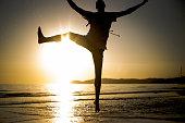 istock Hipster man enjoying the sunset 1058446222