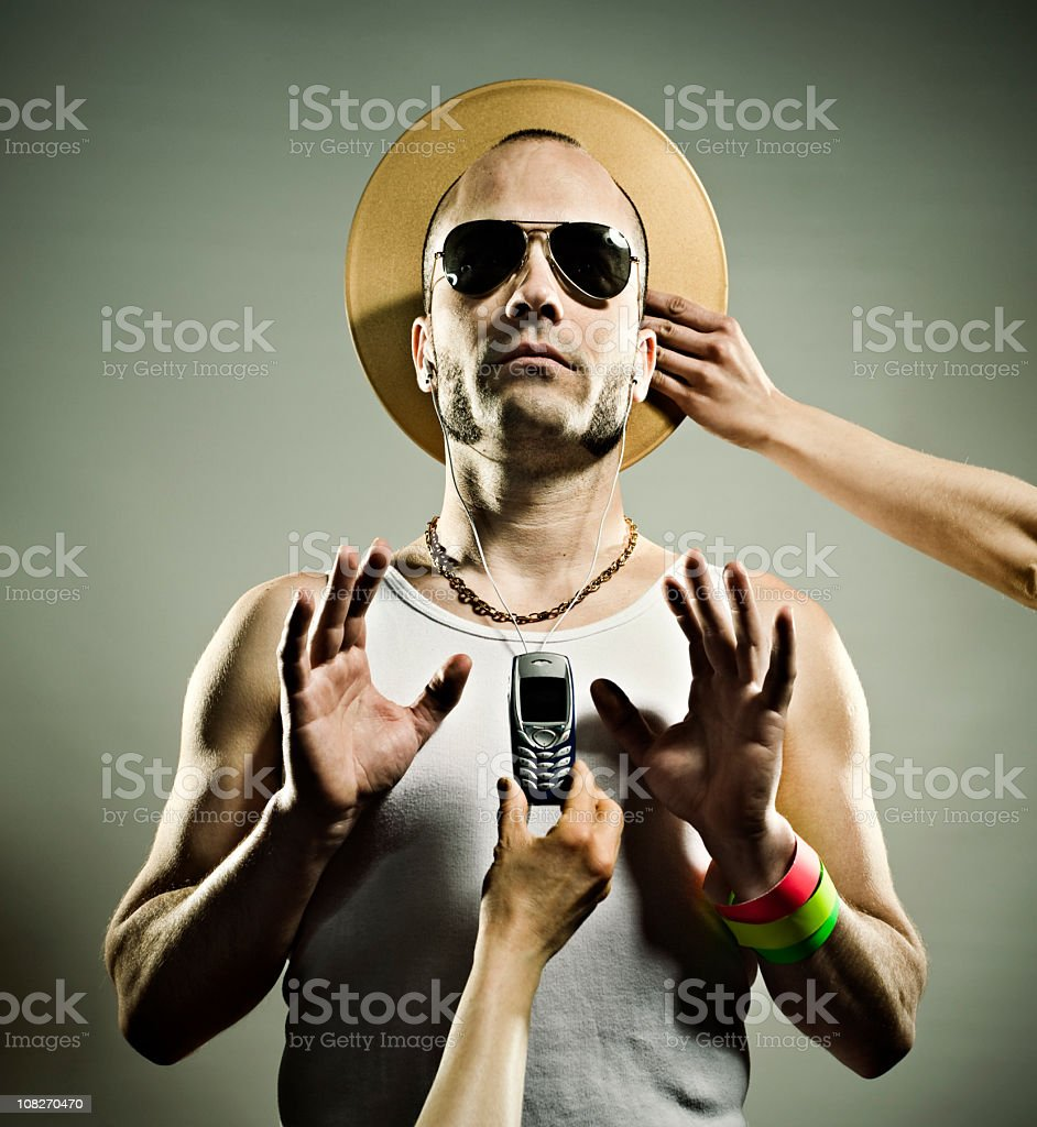 Hipster man royalty-free stock photo