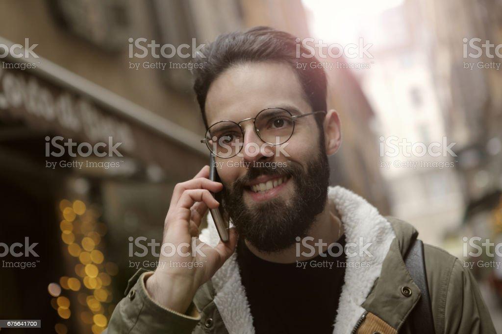 Hipster man royalty-free stock photo
