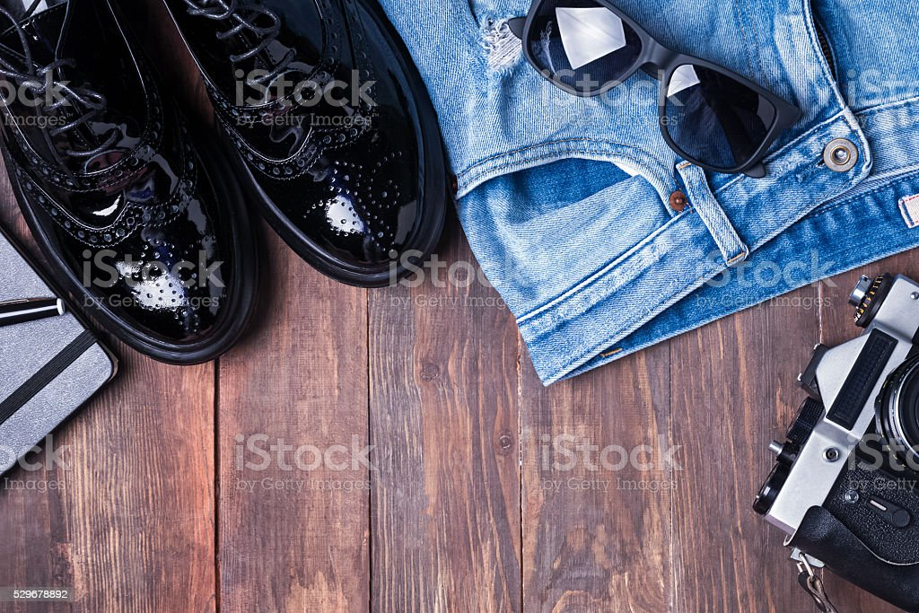 Hipster outfit stock photo